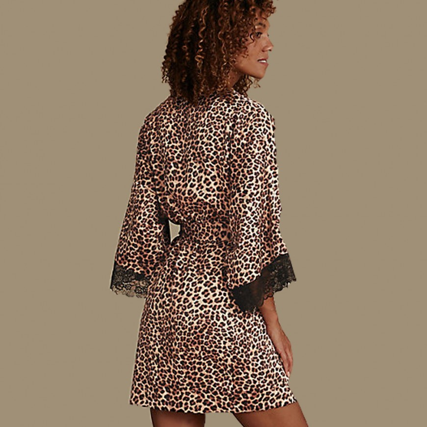 M&S Leopard Robe